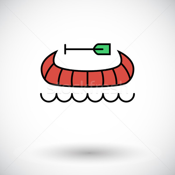 Canoe icon Stock photo © smoki