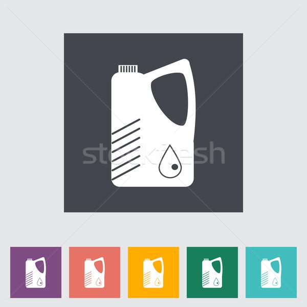 Jerrycan single flat icon. Stock photo © smoki