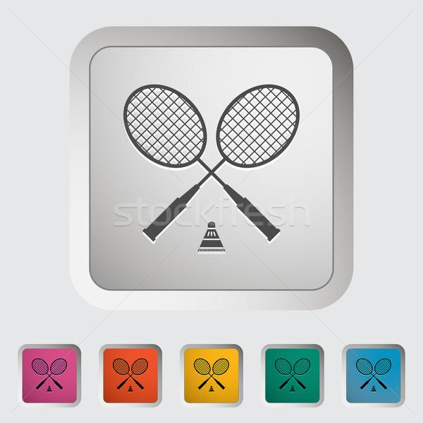Badminton sportu zabawy czarny szkolenia graficzne Zdjęcia stock © smoki
