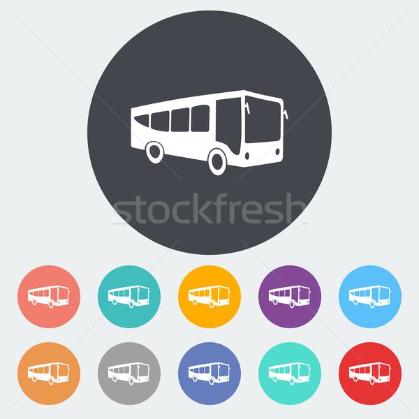 Bus flat icon Stock photo © smoki