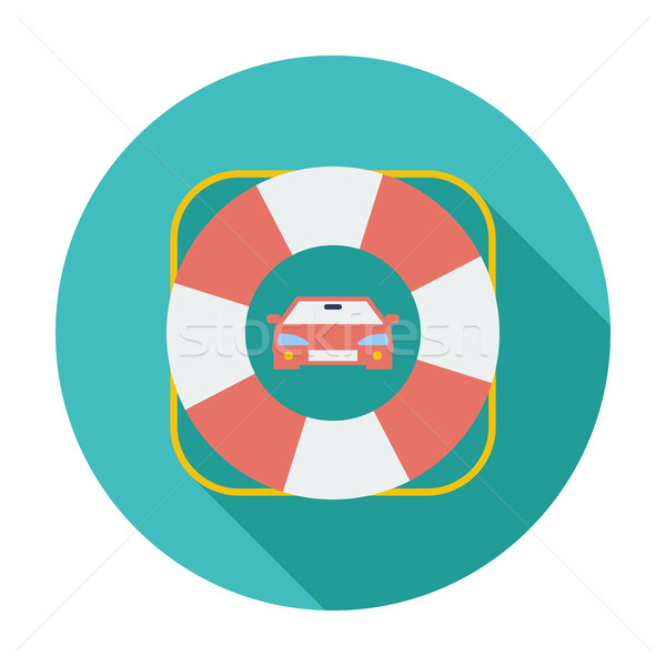 Przydrożny symbol kolor ikona samochodu pomoc Zdjęcia stock © smoki