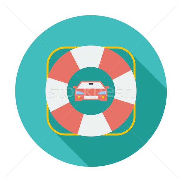 Borde del camino símbolo color icono coche ayudar Foto stock © smoki
