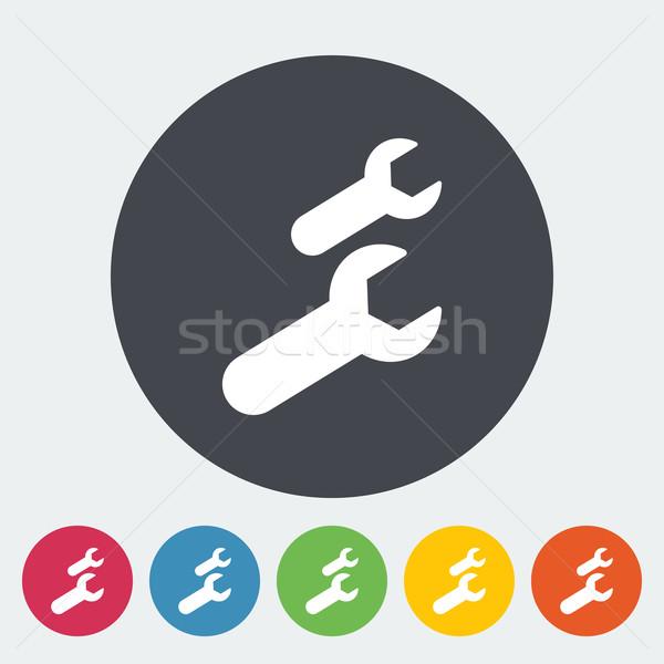 Stockfoto: Sleutel · icon · cirkel · ontwerp · technologie · kunst