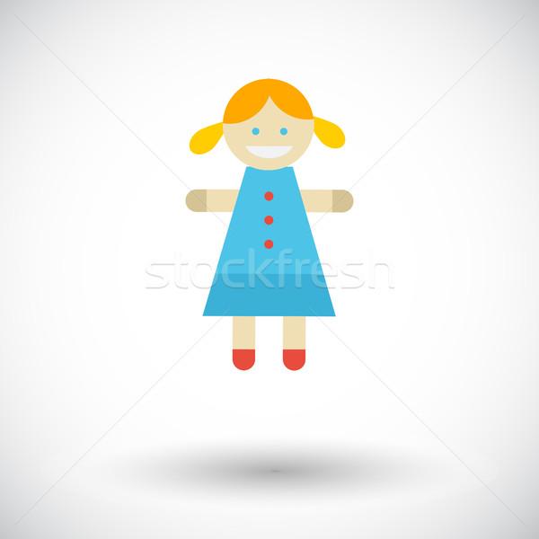 Bambola giocattolo icona vettore web mobile Foto d'archivio © smoki
