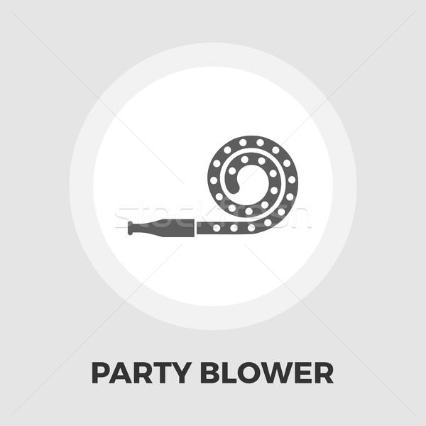 Partij blazer icon vector geïsoleerd witte Stockfoto © smoki