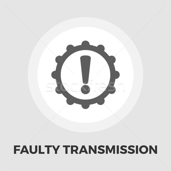 Faulty transmission flat icon Stock photo © smoki