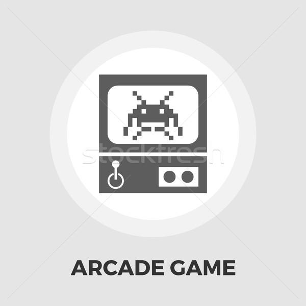 Retro Arcade Machine flat icon Stock photo © smoki