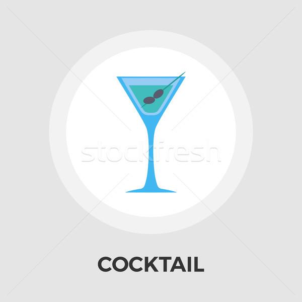 Martini ícone vetor isolado branco Foto stock © smoki