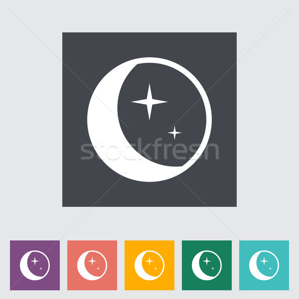 Moon flat icon. Stock photo © smoki