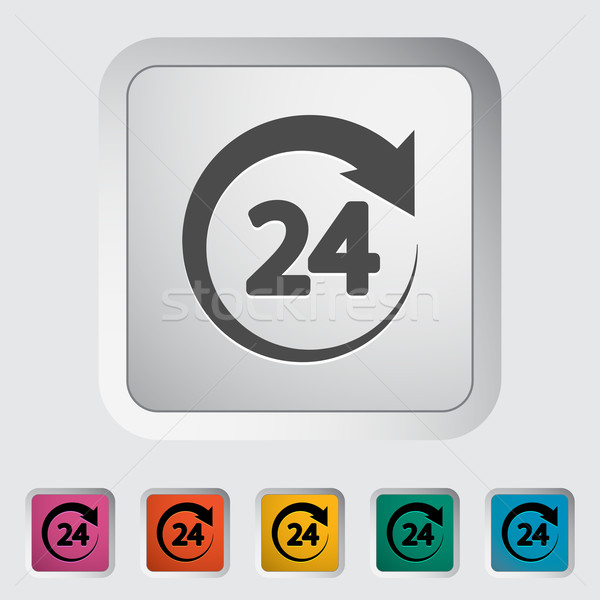 24 ícone botão assinar tempo armazenar Foto stock © smoki