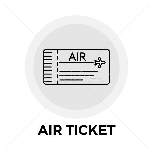 воздуха билета икона вектора jpg объект Сток-фото © smoki