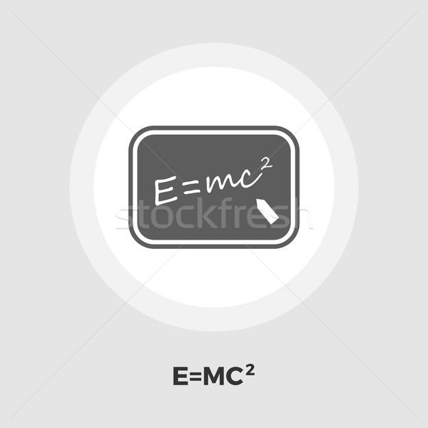 Fysica icon vector geïsoleerd witte Stockfoto © smoki