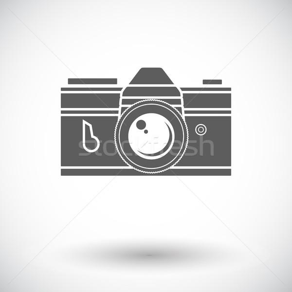 Ikon Eski Fotograf Makinesi Beyaz Film Teknoloji