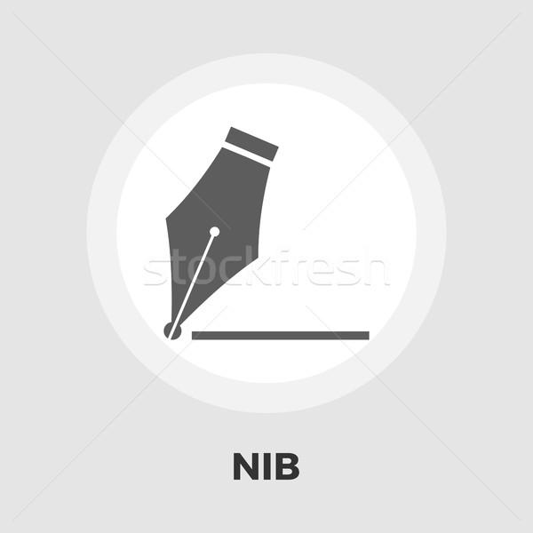 Nib icon flat Stock photo © smoki