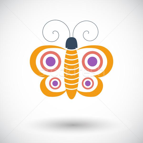 Butterfly single icon. Stock photo © smoki
