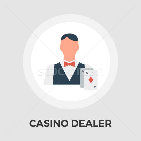 Casino Dealer Flat Icon Stock photo © smoki