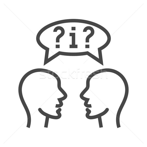 Dialogue Thin Line Vector Icon. Stock photo © smoki