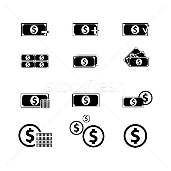 Dinero icono financiar ordenador papel Foto stock © smoki