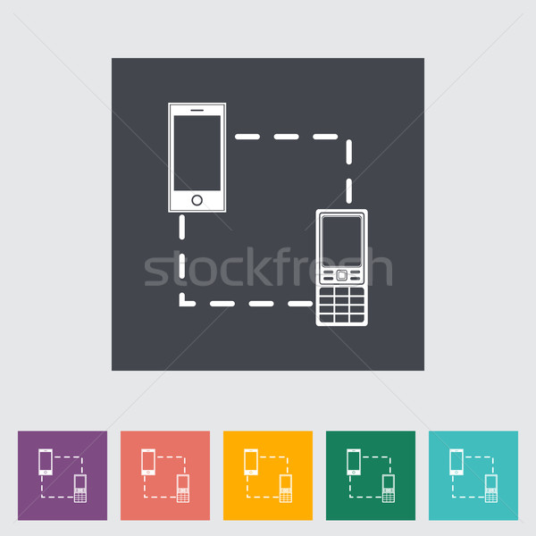 Phone sync single icon. Stock photo © smoki
