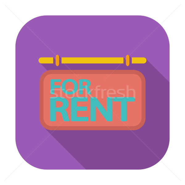 Stock photo: For rent. Single icon.