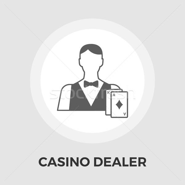 Casino comerciante icono vector imagen eps Foto stock © smoki