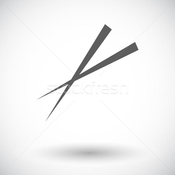 Bacchette icona bianco alimentare arte nero Foto d'archivio © smoki