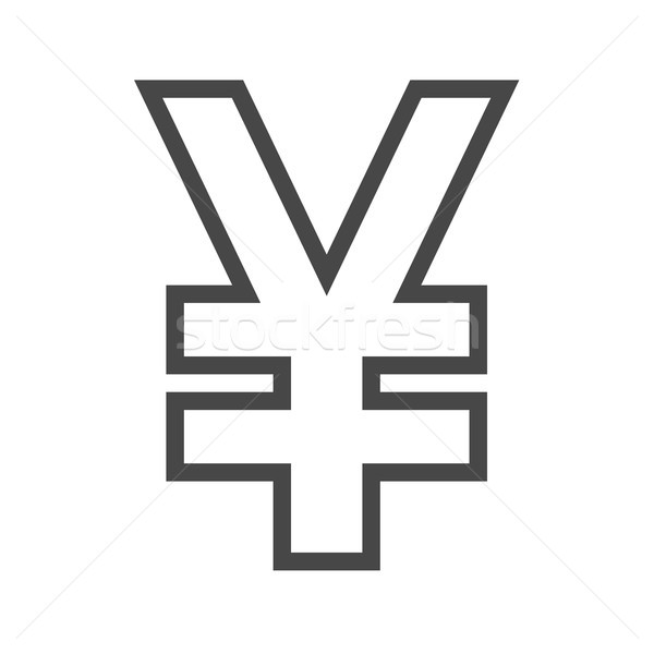 Yen Thin Line Vector Icon Stock photo © smoki
