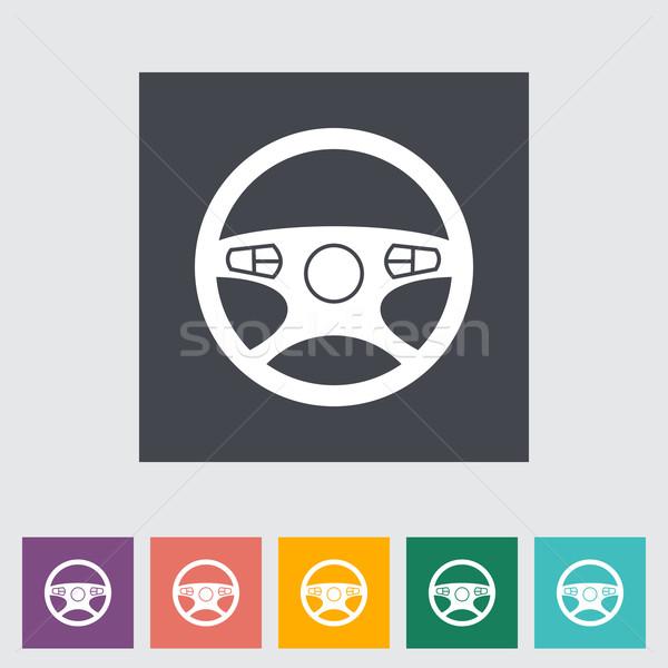 Auto stuur icon ontwerp technologie snelheid Stockfoto © smoki