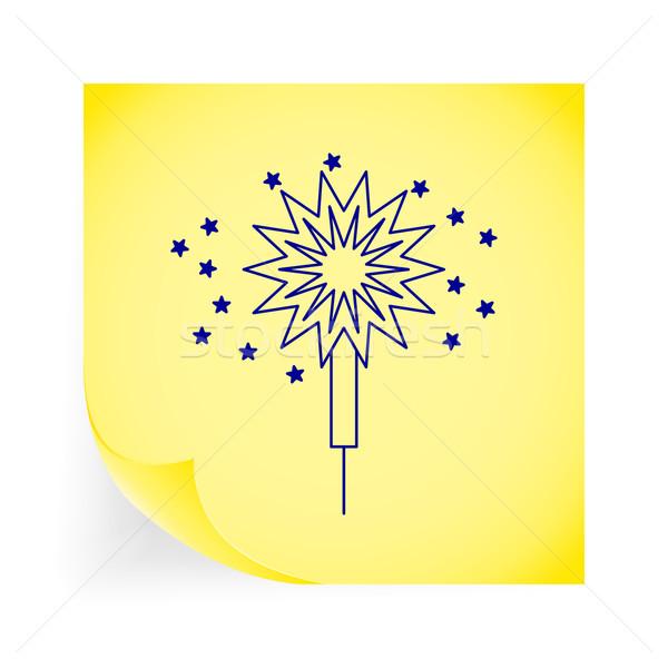 Sparkler ícone amarelo arte diversão Foto stock © smoki