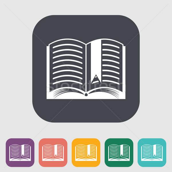 Сток-фото: книга · икона · бизнеса · бумаги · оранжевый · знак