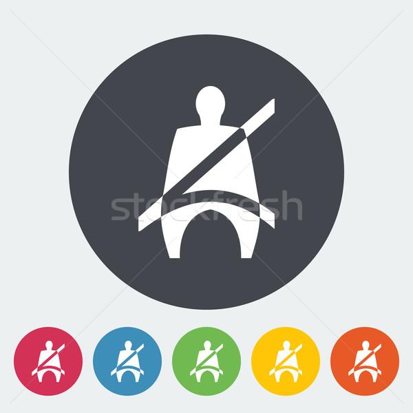 座席 ベルト アイコン サークル にログイン ドライバ ストックフォト © smoki