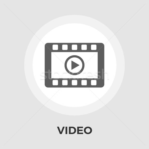 Video player vector flat icon Stock photo © smoki