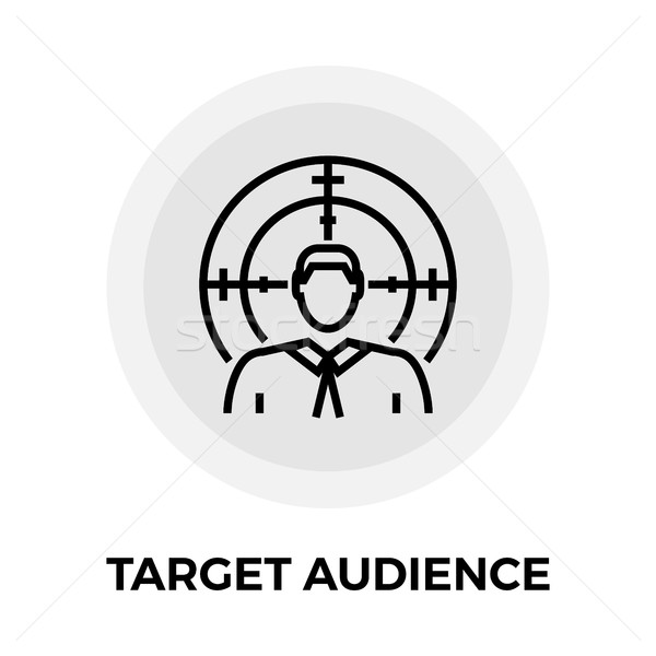 Target Audience Line Icon Stock photo © smoki