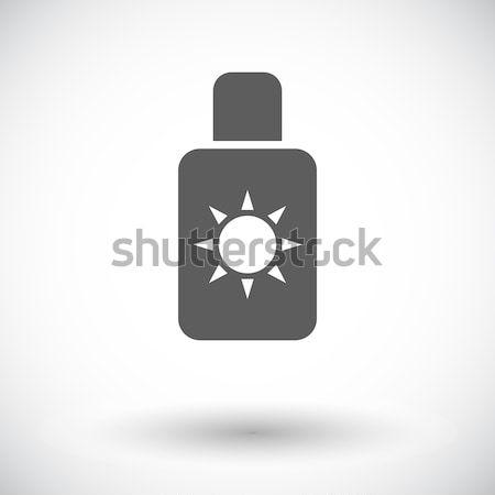 Protetor solar linha ícone vetor imagem objeto Foto stock © smoki