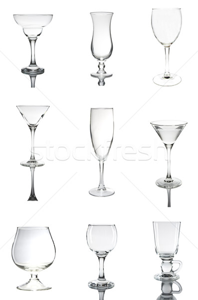 empty glass set 1 Stock photo © smoki