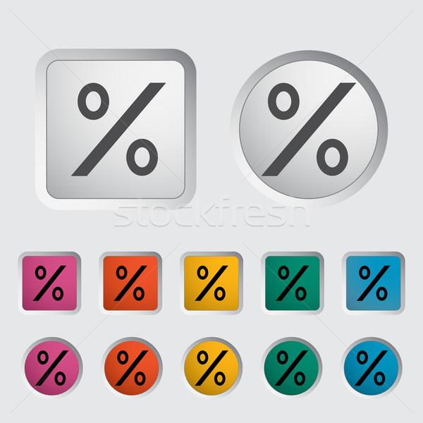 Stockfoto: Icon · procent · teken · business · ontwerp · reclame