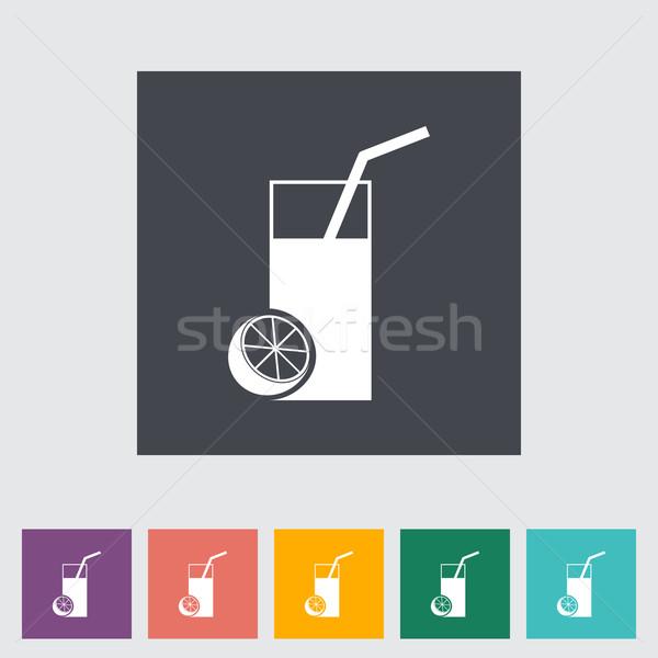 Fruit juice flat icon. Stock photo © smoki