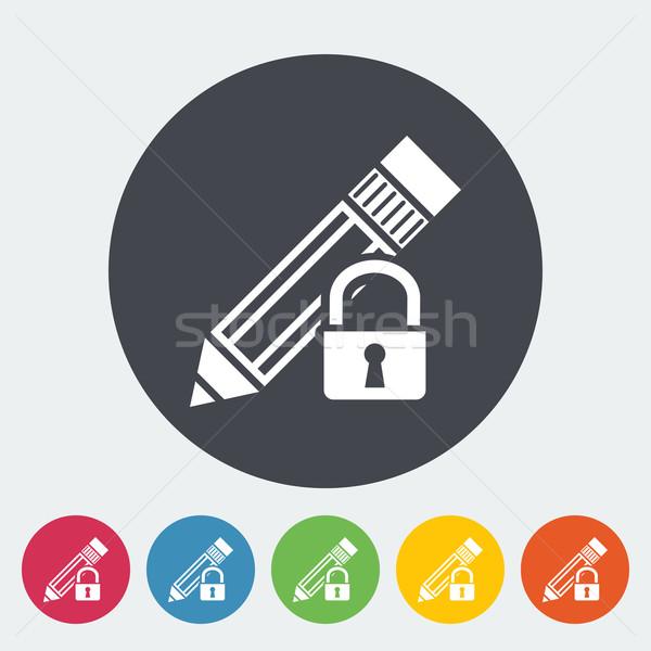 Lock for editing single icon. Stock photo © smoki