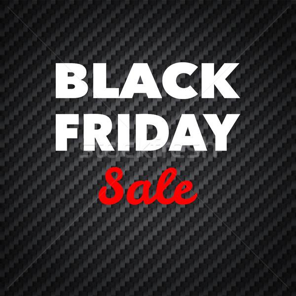 Black friday verkoop reclame poster ontwerp vector Stockfoto © smoki