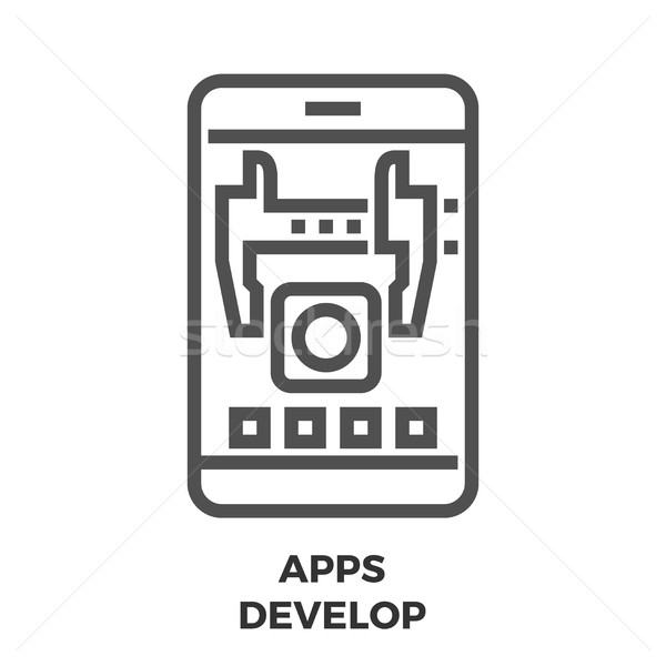 APPS Develop Line Icon Stock photo © smoki