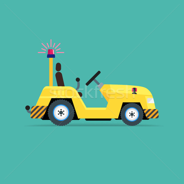 Luggage truck icon Stock photo © smoki