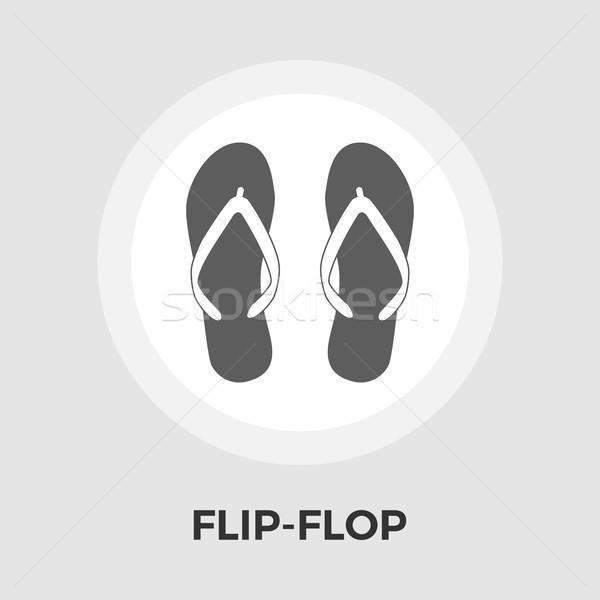 0389af232cea Flip-Flop vector flat icon vector illustration © Oleksii Afanasiev ...