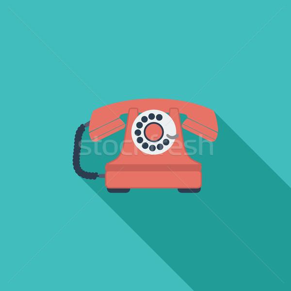 Vintage phone icon  vector illustration © Oleksii Afanasiev