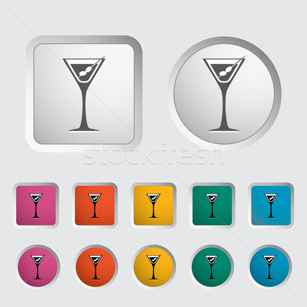 Martini ikon gıda dizayn cam bar Stok fotoğraf © smoki