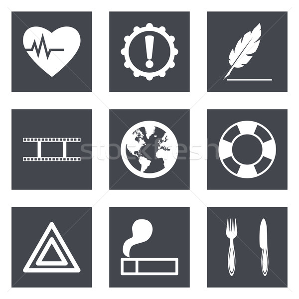 Icons for Web Design and Mobile Applications set 9 Stock photo © smoki