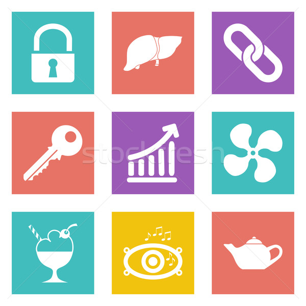 Icons for Web Design set 20 Stock photo © smoki