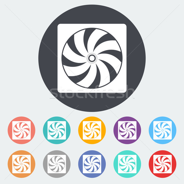 Radiator fan flat icon. Stock photo © smoki