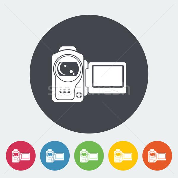Video camera single icon. Stock photo © smoki