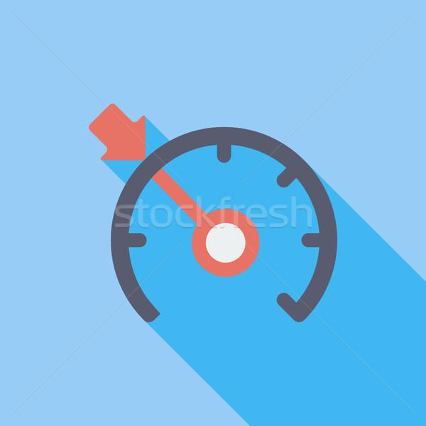 Croisière contrôle icône vecteur longtemps ombre Photo stock © smoki