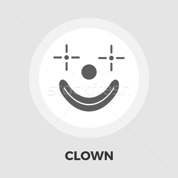 Clown flat icon Stock photo © smoki